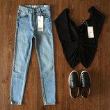 Новые высокие джинсы джегинсы Zara