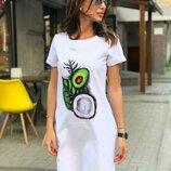 Платье свободное девять рисунков