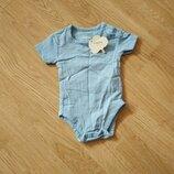 Летний хлопковый боди на ребёночка 0-1 мес
