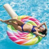 Пляжный надувной матрас - плот Intex 58753 «Леденец», 208 х 135 см