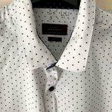 Рубашка со звездочками Zara Slim Fit XXL