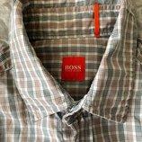 Рубашка в клетку Hugo Boss L