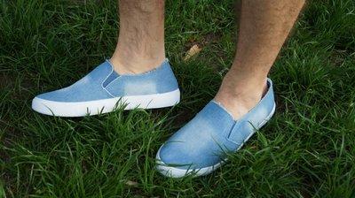 Продано: Мужские мокасины топсайдеры низкие джинсовые синие