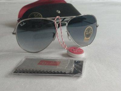 Очки авиаторы , капли ray ban унисекс, серый градиент , стекло , новые в чехле и коробке