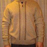Теплая мужская кофта, свитер, кардиган, размер 48-50. состояние идеальное