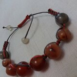 Браслет shamballa с натуральным камнем агат