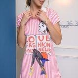 Платье рубашка Турция лакоста принт полоска рисунок