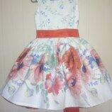 Пышное украинское нарядное летнее детское платье