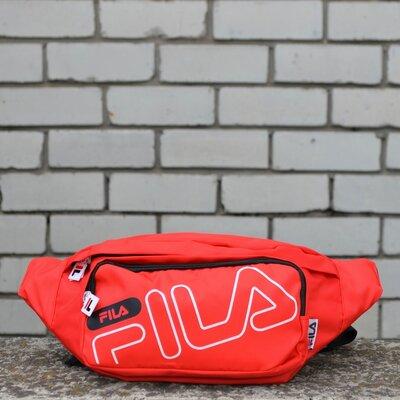 Бананка Fila красная поясная сумка фила унисекс.