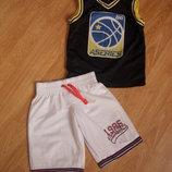 Баскетбольная форма, шорты, майка, Rebel,на 7-8 лет, 128 рост