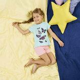 Хлопковая пижама Lupilu для девочки, футболка и шорты р.86-92