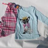 Пижама для девочки Lupilu на рост 110-116 см. 4 - 6 лет. фланелевые штанишки Германия