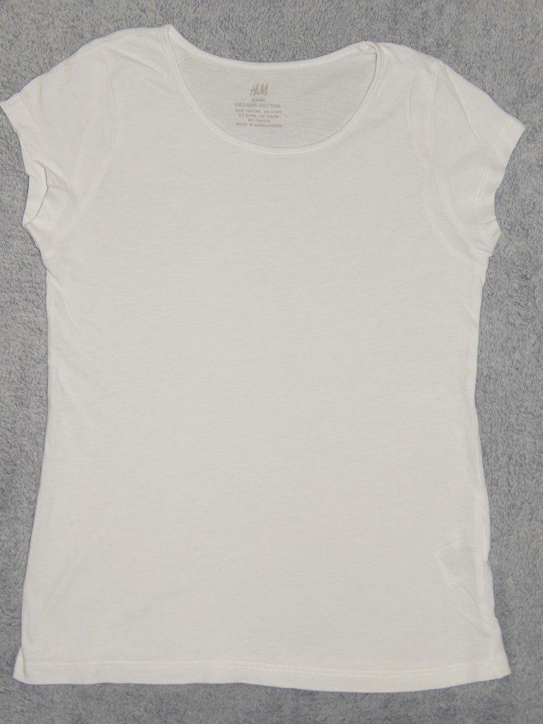 Белая трикотажная футболка H&M. На девочку 8-10 лет. Рост 134-140 см: 55 грн - футболки, майки h&m в Запорожье, объявление №21883113 Клубок (ранее Клумба)