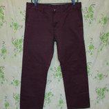 Стильные бордовые котоновые брюки