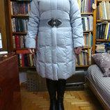 Пуховик зимний с капюшоном пуховое пальто нат.пух нат.мех