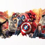 3D интерьерные виниловые наклейки на стены Халк, Тор, Капитан Америка 90-50 см в детскую .Обои Марве