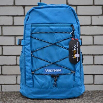 Рюкзак городской синий Supreme Big Bag Blue New.