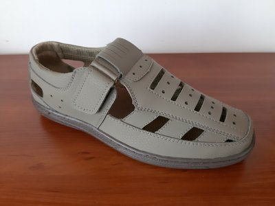 Мужские босоножки сандалии бежевые
