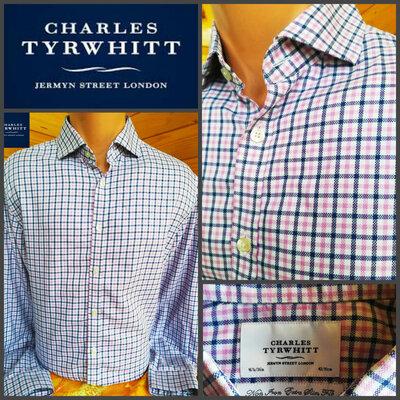 Рубашка классического кроя в клетку от Charles Tyrwhit, оригинал, р.L.