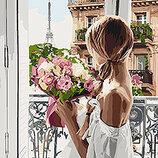 Картина По Номерам идейка. Люди ИЗ Парижа С Любовью 40 50СМ KHO4567