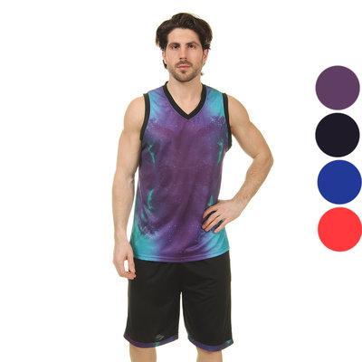 Форма баскетбольная мужская Space 8007 баскетбольная форма 4 цвета, размер L-5XL рост 160-190см