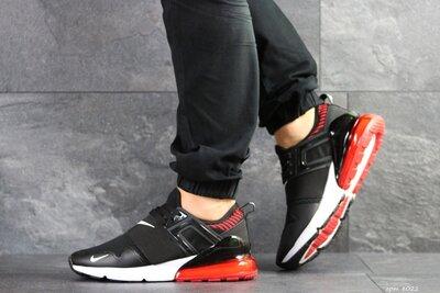 Nike кроссовки мужские демисезонные черные с белым и красным 8022