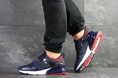 Nike кроссовки мужские демисезонные темно синие с белым и красным 8023