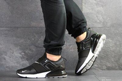 Nike кроссовки мужские демисезонные черные с белым 8025