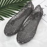 Стильные прозрачные туфельки балетки, 36-40