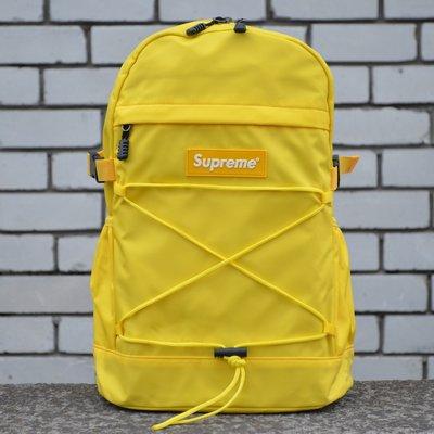 Рюкзак городской желтый Supreme Bag Yellow унисекс New.
