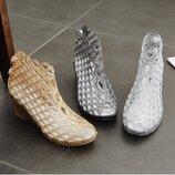 Модные прозрачные силиконовые босоножки туфельки оригинального дизайна, 36-41