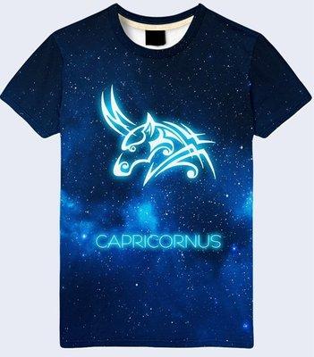 Мужская футболка 3D Capricornus Козерог Все знаки