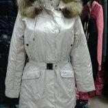 Женская куртка бежевая S-L .
