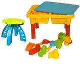 Столик-Песочница со стульчиком 2 в 1 для игр с песком и водой 08-31