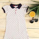 Платье поло для девочки 110-128 рост Турция