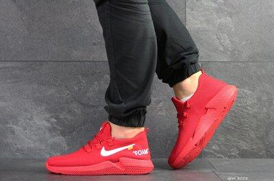 Wonex кроссовки мужские демисезонные красные 8028