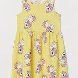 Детское летнее платье Единороги для девочки H&M 35912
