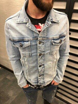 Стильная мужская джинсовка m-l-xl-xxl