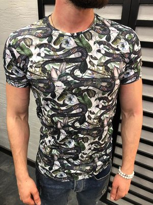 Стильная мужская футболка 2 цвета S-XL