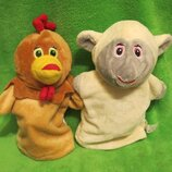 Овечка.овца.вівця.курица.курка.мягка іграшка.мягкие игрушки.перчатка.кукольный театр.театр.B&M