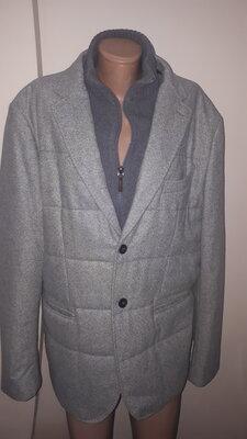 р 54 Tessuti Sondrio Made in Italy Boggi Milano стильный теплый пиджак-куртка шерсть утеплен пиджак