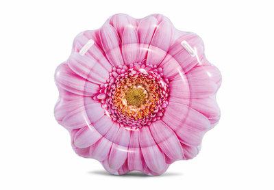 Надувной плотик розовый цветок Intex 58787 размер 142х142см