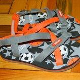 Босоножки детские новые серые с оранжевым Sport размер 31.