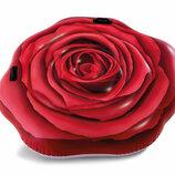 Надувной плотик красная роза Intex 58783 размер 137х132см