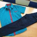 Рубашка и брюки в школу как новое на 116-134р можно и по отдельности