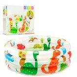 Красочный и очень милый бассейн для Вашего малыша,бренда Intex «Динозавры».Новый