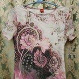 Лёгкая блузка футболочка стрейч сетка р.M-L OLSEN