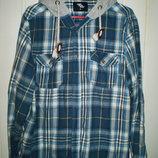 Модняча чоловіча сорочка Ledar Wood State з капюшоном і нашивками на ліктях