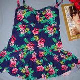 купальник платье сдельный темно синий новый размер 48-50 / 16 чашка C D с юбочкой B.You сток