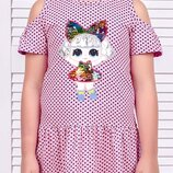 Платье для девочек рост 92-134